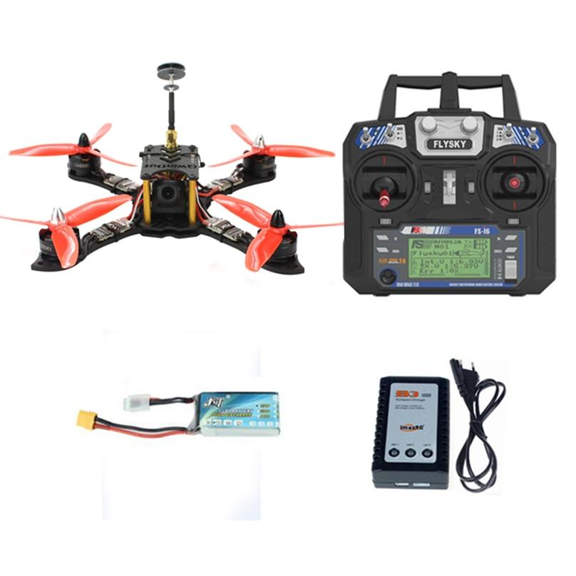 JMT 210mm RTF Mini Racer RC FPV Quadcopter Racing Drone avec Flysky FS I6 Émetteur F4 Pro (V2) contrôleur de vol