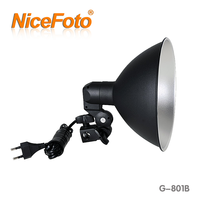 NiceFoto G-801B Photography Lighting Equipment Photo Lamp Base Flash LED Ring Video Camera Dslr Light Iluminador 1pc 150w 220v 5500k e27 photo studio bulb video light photography daylight lamp for digital camera photography