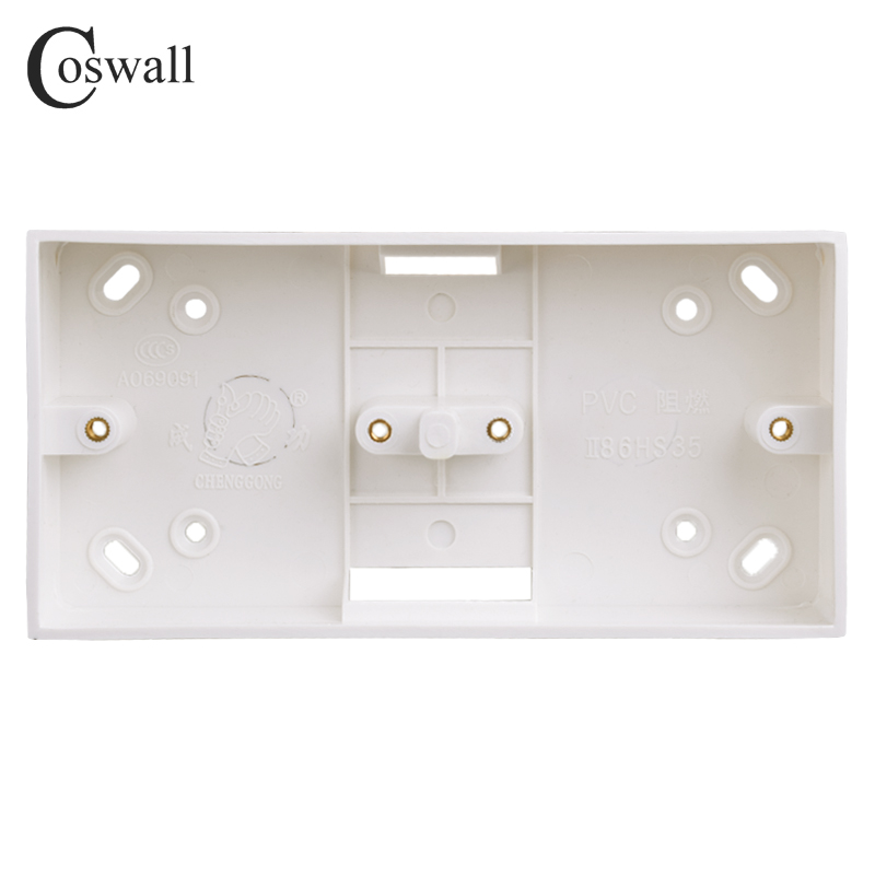 Coswall external mounting box 172mm*86mm*33mm for 86 type double switches or sockets apply for any position of wall surface