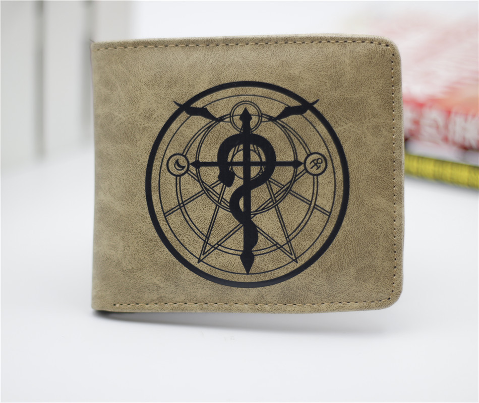 anime Fullmetal Alchemist wallet cosplay billfold men and women students personality short animated cartoon fashion purse 2016 new arriving pu leather short wallet the price is right and grand theft auto new fashion anime cartoon purse cool billfold