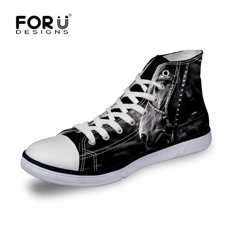 Forudesigns Cool cráneo impresión hombres zapato de lona de alta superior  Zapatos punk plana vulcanize shoen a7c61655fe1e