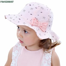 New Baby Girls Hat Fashion Cats Bowknot Girl Cap Spring Summer Autumn Sun Princess photography Caps