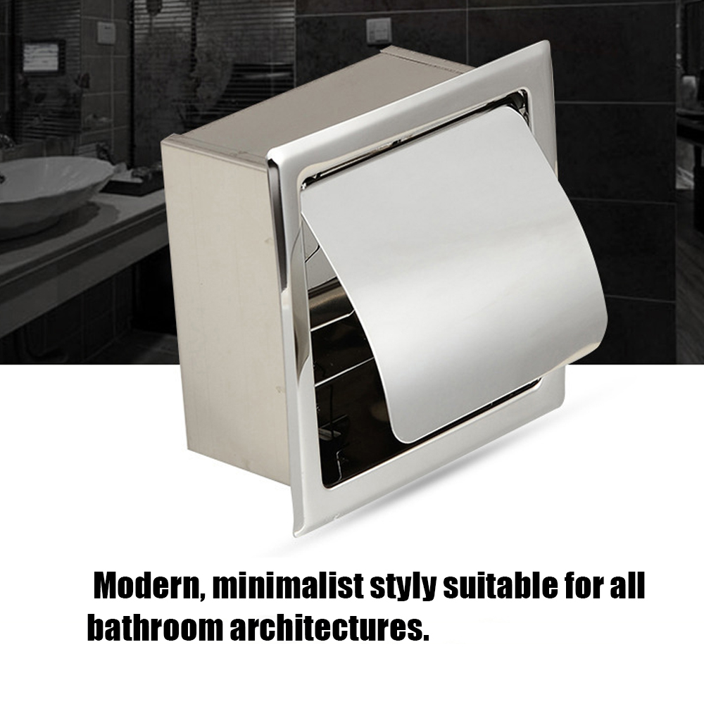 Home Tissue Box Stainless Steel Concealed Roll Paper ...