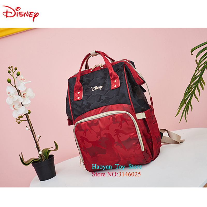 Sac momie Disney Mickey multi-fonction grande capacité sac à dos Camouflage Bolsa Maternidade poussette Nappy sac sac à langer pour bébé