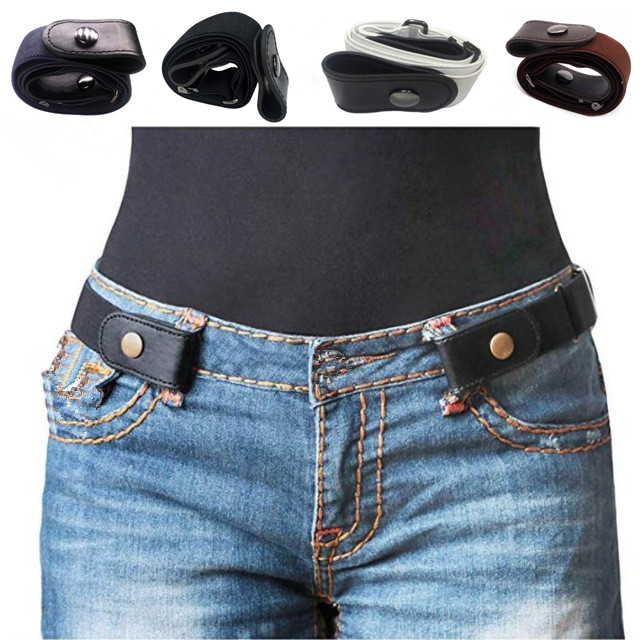 Buckle-Free Belt For Jean Pants,Dresses,No Buckle Stretch Elastic Waist Belt For Women/Men,No Bulge,No Hassle Waist Belt(China)