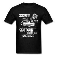 Zeefdruk t-shirt Mannen Tee Driver Picks de Muziek Crew Neck Hipster Hi-Mode Tee Shirt Kostuums