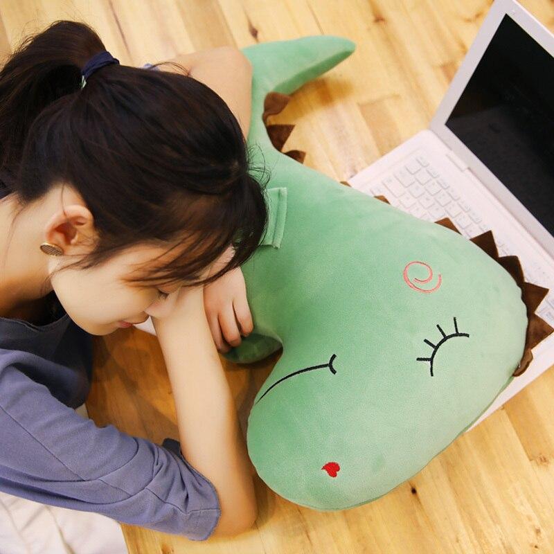 100 см Большой размер игрушки плюшевый динозавр домашнего интерьера набивная Подушка для сна украшения в подарок детям мягкий динозавр пода... - 4