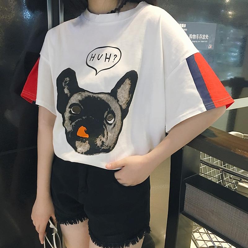 NiceMix 2019 Women Harajuku T Shirt Kawaii Preppy Cartoon Ladies Tees Tops Short Sleeve O-neck Female Summer T-shirt