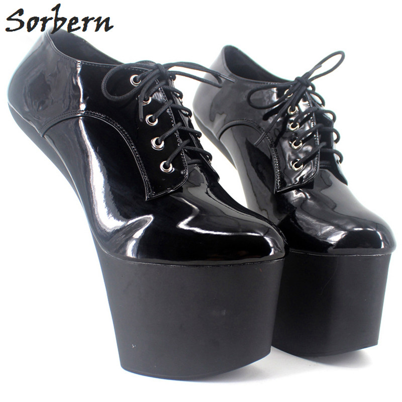 Sorbern Bdsm Extreme High Heel Strange Hoof Heelless Sexy Shoes Lace Up More Colors Patent Unisex Platform Shoes Plus Size 47Sorbern Bdsm Extreme High Heel Strange Hoof Heelless Sexy Shoes Lace Up More Colors Patent Unisex Platform Shoes Plus Size 47