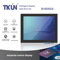 15 inch capacitive multi touch screen monitor,Supports up to 10 simultaneous touch points
