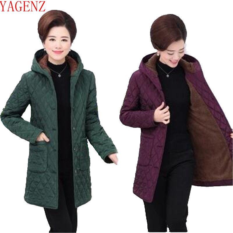 black Nouveau Kg736 Grande Moyen Wine Femmes Purple Vêtements D'âge Garder Au green D'hiver Mode Manteau Taille red Chaud Veste De Coton UfBqZg
