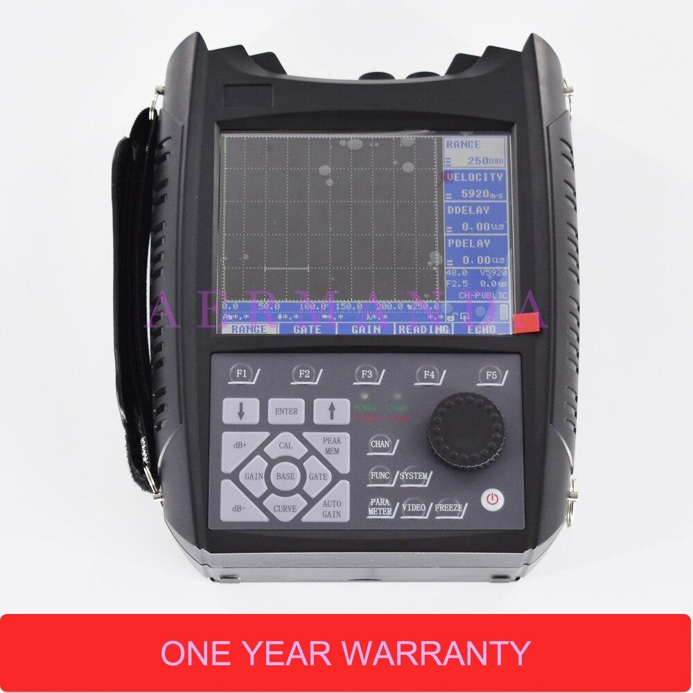Portable Ultrasonic Flaw Detector SUB100 0-9999mm 5.7 polegadas TFT display LCD Instrumento de Teste Não Destrutivo