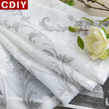 CDIY White Embroidery Sheer Curtains Window Tulle Curtains for Bedroom Living Room Kitchen Voile Curtains for Window Drapes Sale cdiy tulle curtains for living room bedroom kitchen modern sheer curtains for window screening linen voile curtains drapes door