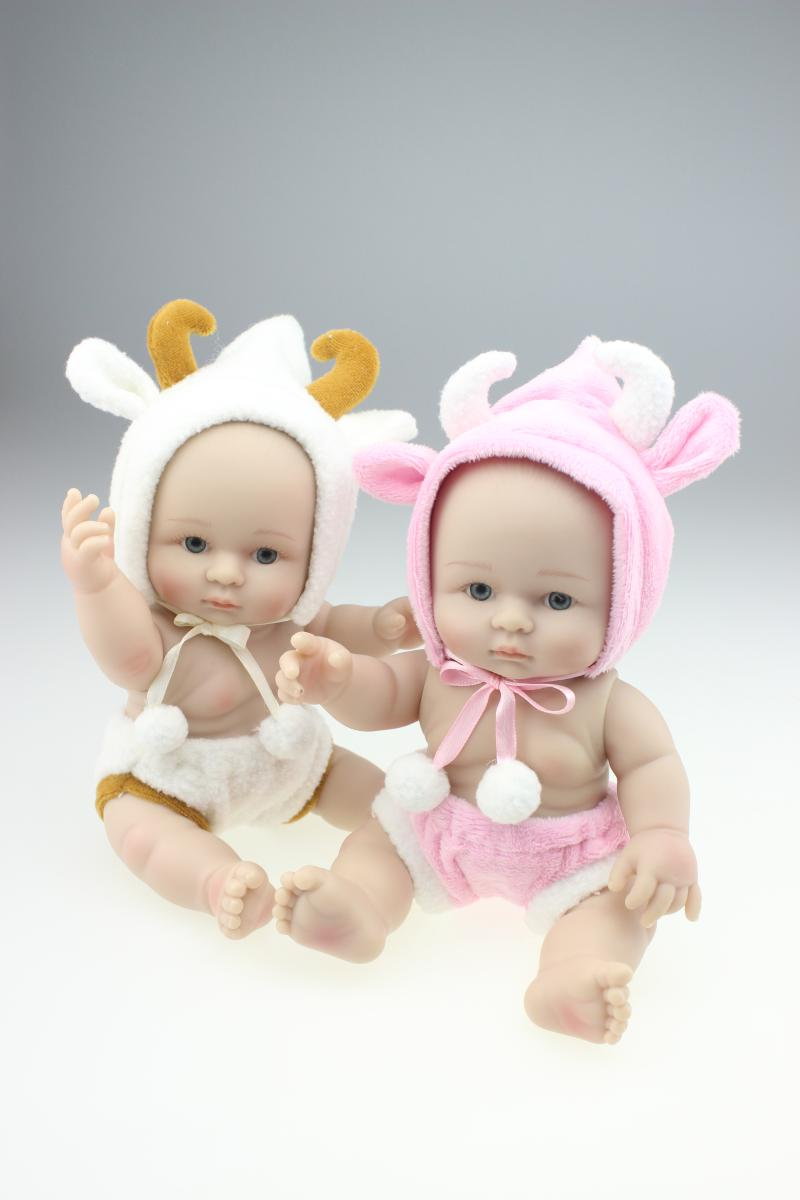 25cm Mini Toy Simulation Doll Baby Silicone Doll Model Beautiful Baby  Shower Doll Kids Christmas Birthday Gifts In Dolls From Toys U0026 Hobbies On  ...