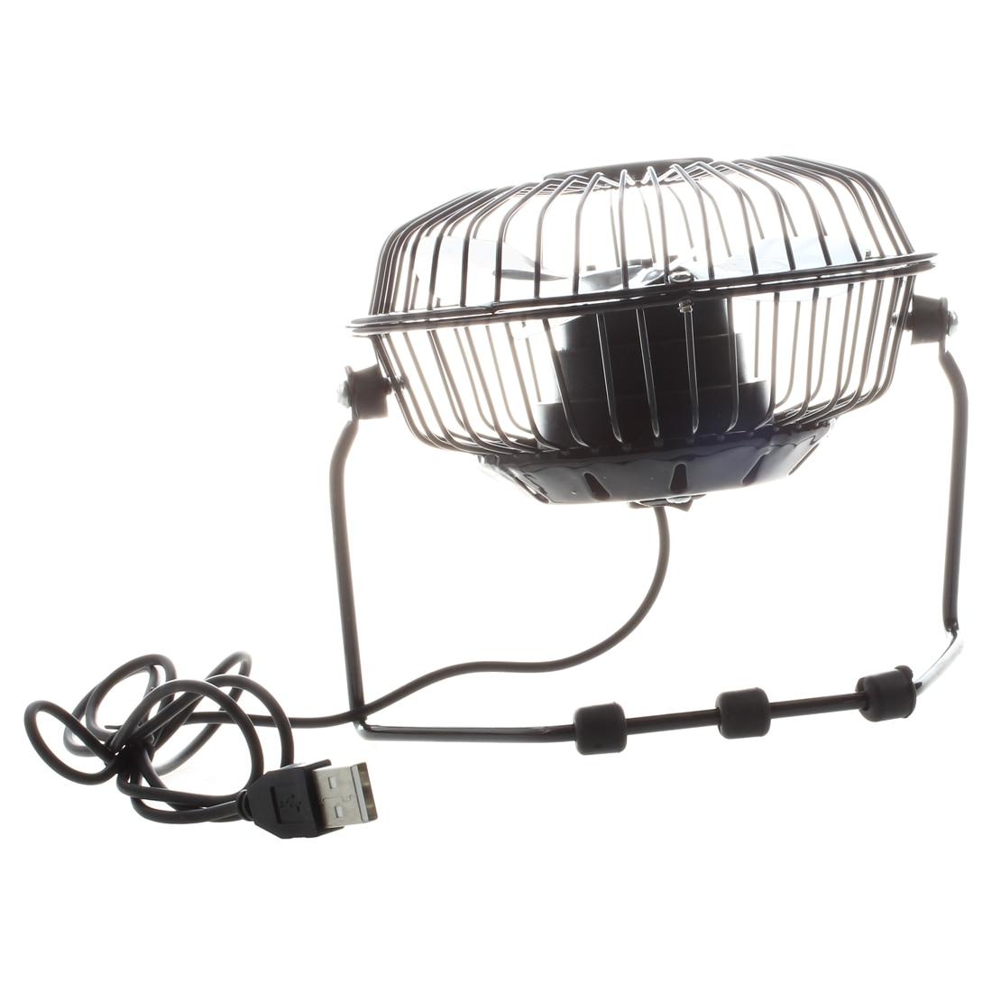 4 дюйма 360-градусов вращающийся USB Powered металла Электрический мини настольный вентилятор для ПК/ноутбука/Тетрадь (черный) вентилятор usb венти...