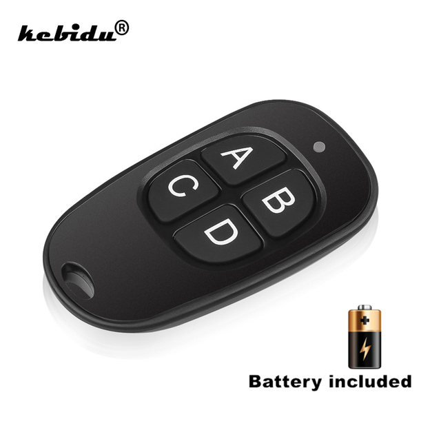 Kebidu השליטה מרחוק 433MHz שיבוט מעתק אלחוטי 4 מפתחות עמיד למים ידית מוסך שער חשמלי דלת מפתח