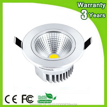 (10PCS/Lot) Super Bright 3 Years Warranty CE RoHS 5W COB LED Downlight Dimmable LED Down Light Recessed Ceiling Spotlight Bulb