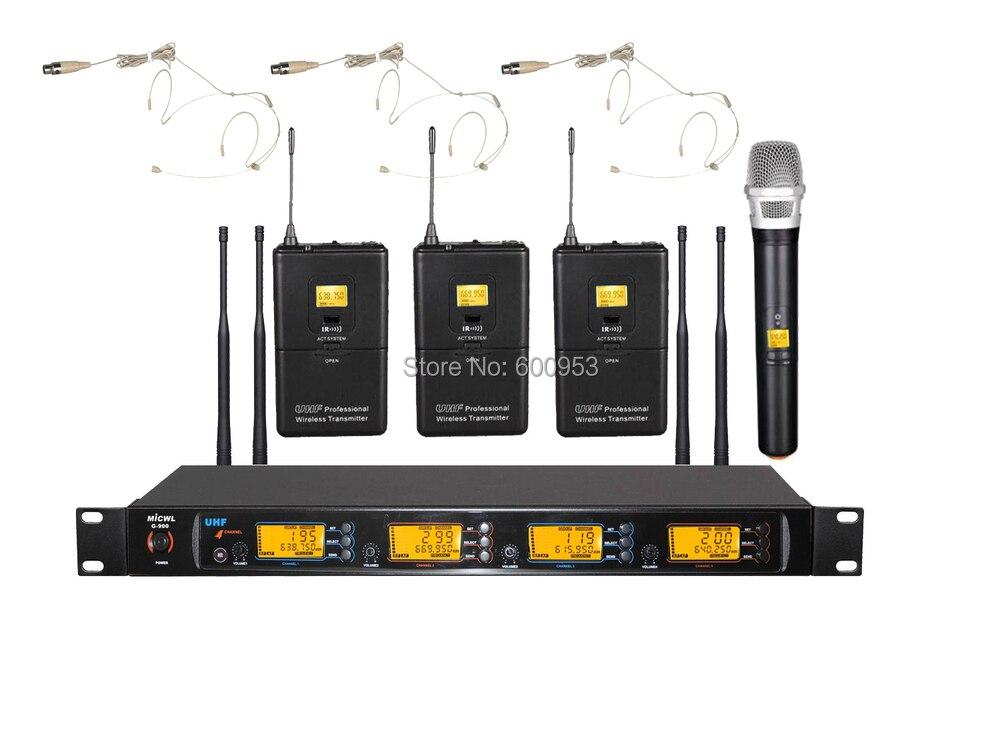 MiCWL Audio UHF système de Microphone micro karaoké sans fil 1 micro portable 3 couleurs de peau mini omnidirectionnel double oreille crochet casque