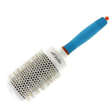 436fb725c0cd2 Pelo profesional de aluminio cepillo de cerámica para peluquería Nano  iónica cepillo de pelo peine en 4 tamaños enredos de cabello rizado peine