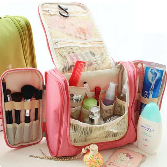 Multifunctional Woman Toiletry Makeup Kit Bag Storage Waterproof Cosmetic Picnic Handbag Organizer Travel