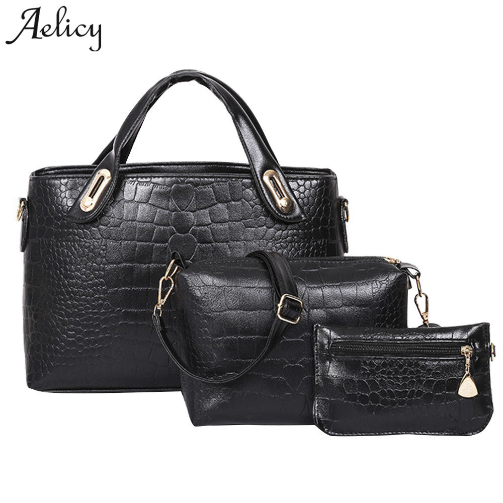 f677ca425e41d1 Aelicy luxury high quality 3 sets crocodile pattern casual tote bag new  design woman designer bags crossbody bags for women - Kuko Fashion Store