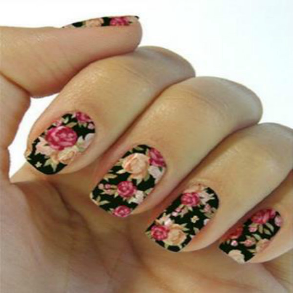 3d flower nail art stickers decals for diy uv gel polish nail tips 3d flower nail art stickers decals for diy uv gel polish nail tips nail sticker black prinsesfo Gallery
