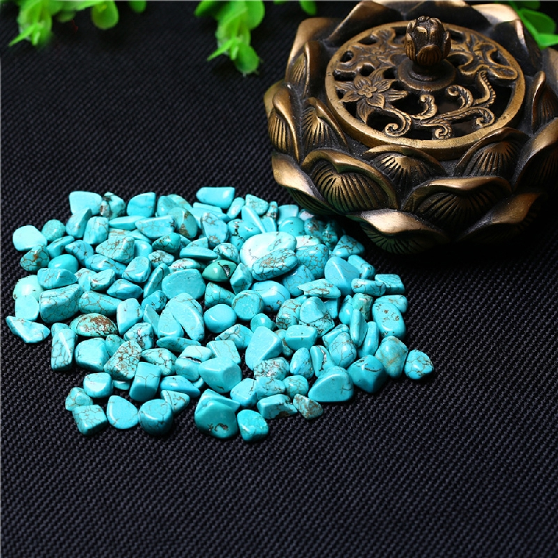 100g Blue Turquoise Crystal Gemstone Rough Stone Mineral Specimen Crystal Stones Crafts Natural Crystal Home Decor Drop Shipping