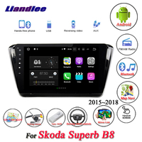 Liandlee Car Android System For Skoda Superb B8 2015~2018 Radio USB GPS BT Wifi Navi Navigation HD Stereo Multimedia No CD DVD