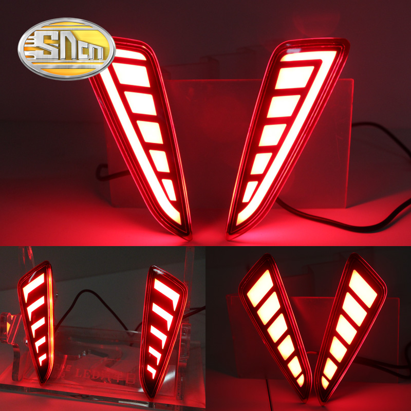 SNCN 2PCS Car LED Rear Fog Lamp For Toyota C-HR CHR 2016 2017 2018 Waterproof 12V Auto LED Brake Light Reflector Bumper Light new for toyota altis corolla 2014 led rear bumper light brake light reflector novel design top quality fast shipping
