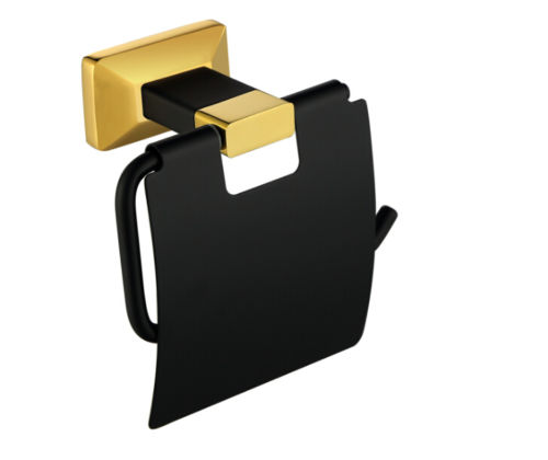 New Gold Black Brass paper box roll holder toilet paper holder tissue box