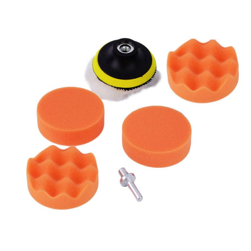 High Gross 3 inch Buffing Pad Kit for Car Sanding Polishing Buffer with Drill Adapter