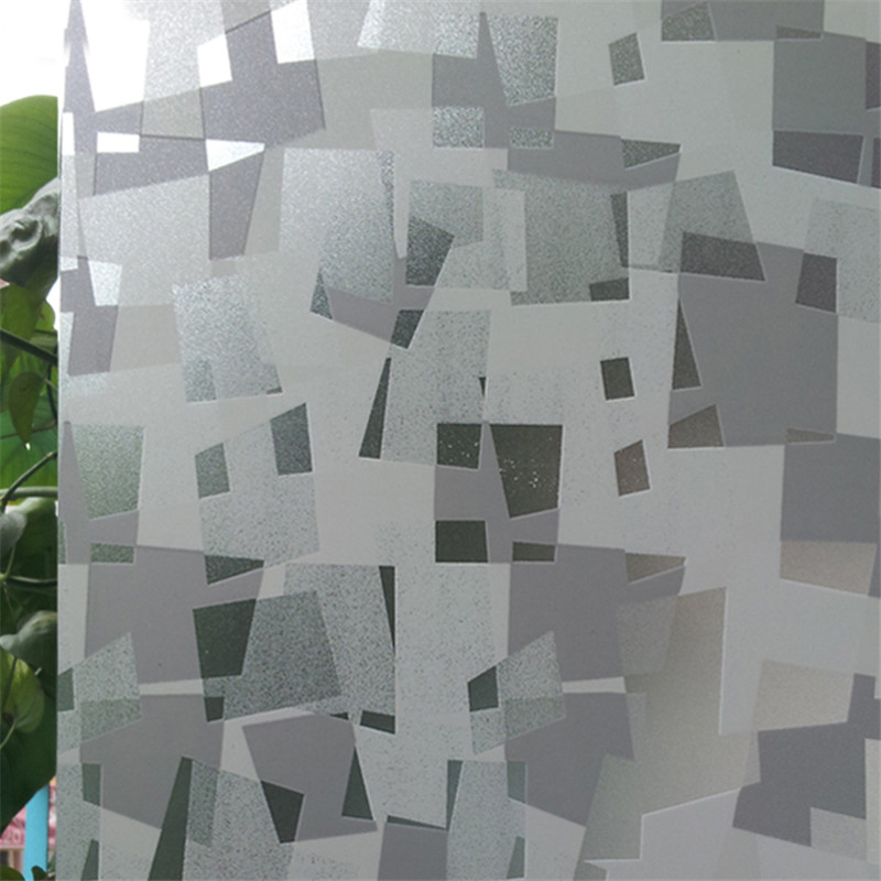 lattice static cling translucent self-adhesive glass film vinyl Frosted window privacy sticker