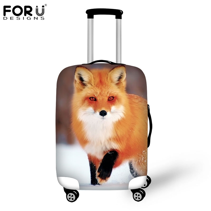 FORUDESIGNS 2018 Cute Fox Cover For Suitcase Bags Travel Luggage Accessories For Men's Women Waterproof Protection Suitcase Case