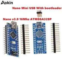 10 pces nano 3.0 controlador compatível com arduino nano ch340 turno usb controlador ninguna cabo v3.0 nano para arduino