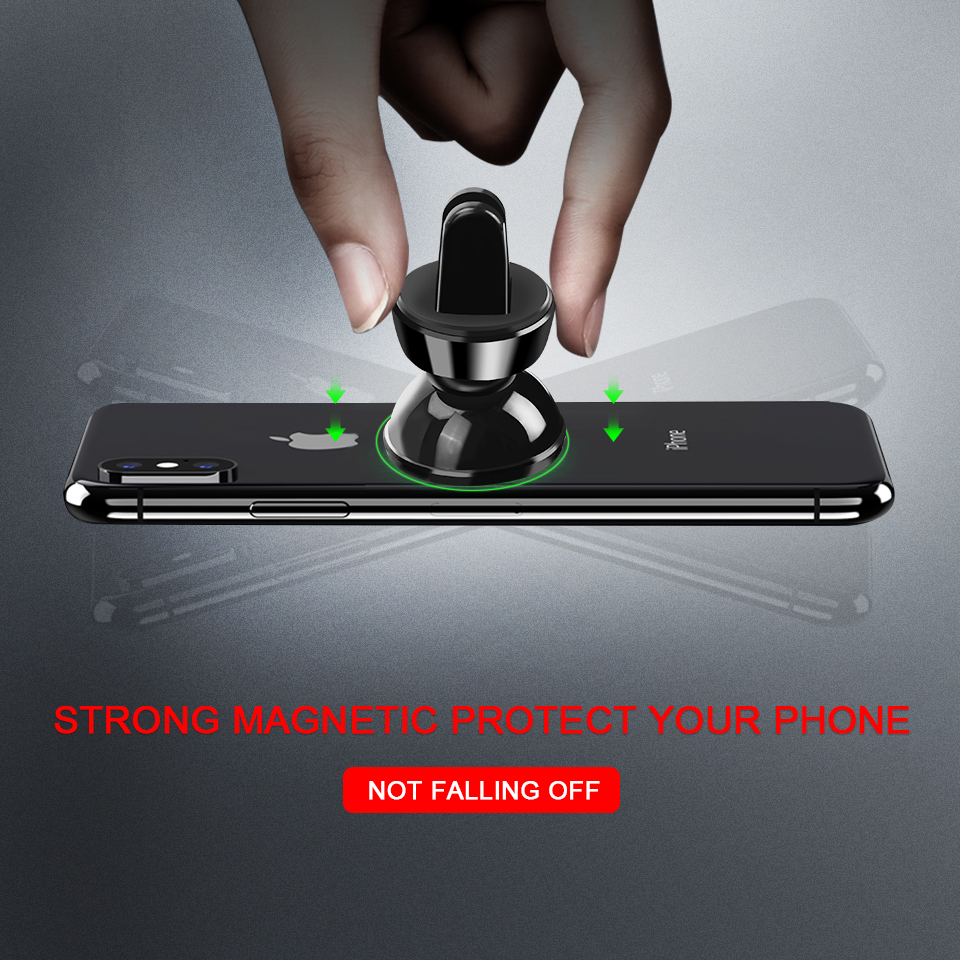 Image 5 - Metrans Magnetic Car Phone Holder For iPhone 360 Degree Air Vent Outlet Mount Stand Holder For Your Mobile Phone telefon tutucu-in Phone Holders & Stands from Cellphones & Telecommunications
