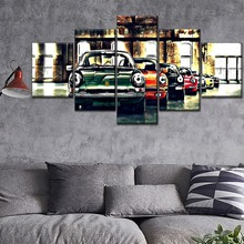Factory Retro Colorful Car HD Print Painting 5 Piece Canvas Art Modern painting on canvas poster Room