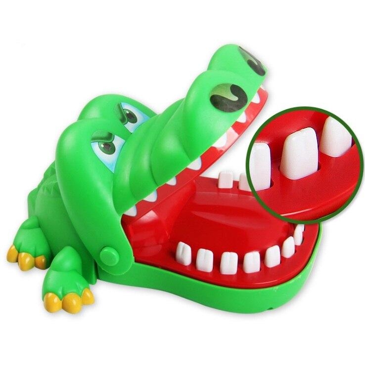 Забавная хитрая игрушка на палец, Акула, бульдог, динозавр, крокодил, стоматолог, новинка, Семейная Игра, игрушка для детей - Цвет: Crocodile