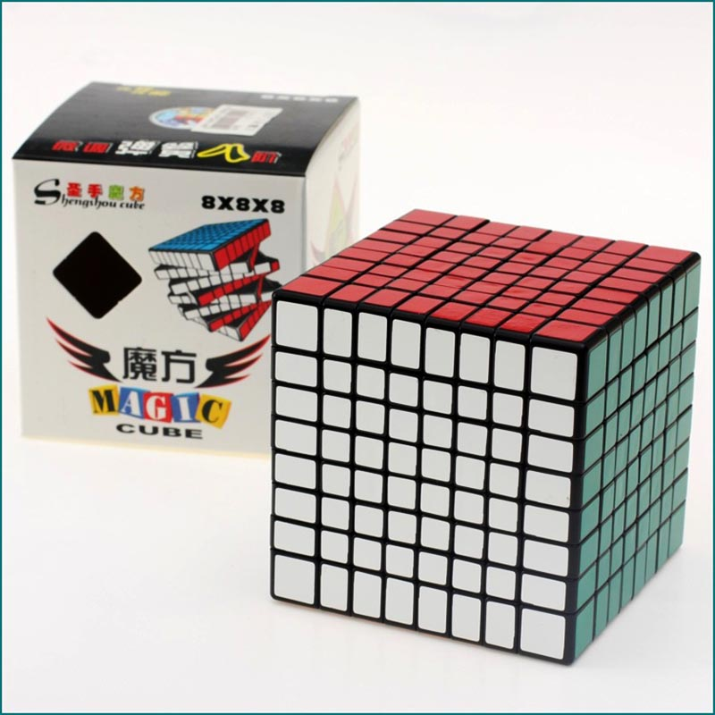 цена на SHENGSHOU 7092A 8x8x8 High-quality Magic Cube 84mm Puzzle Speed PVC Sticker Magic Cube Adult Children Education Toys Gift MF805