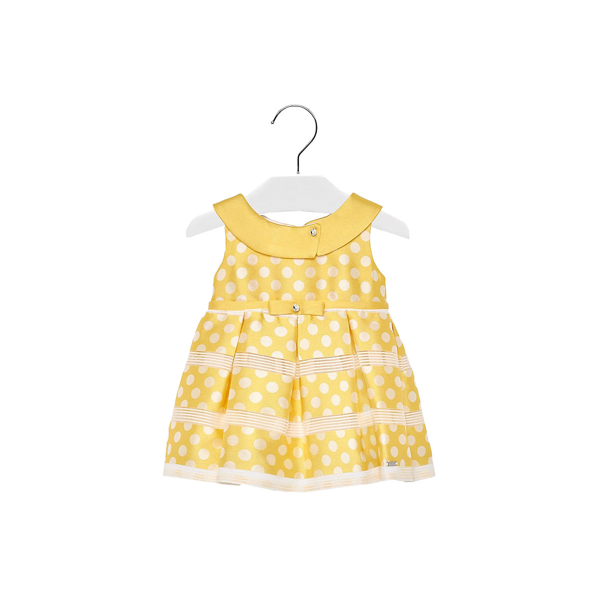 MAYORAL Dresses 10688622 Girl Children fitted pleated skirt Yellow Polyester Casual Print Knee-Length Sleeveless Sleeve girl print drawstring top