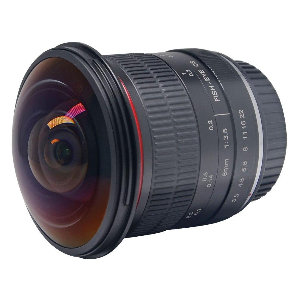 Objectif Fisheye Ultra HD Meike 8mm f/3.5 pour reflex numérique Canon, objectif fixe sans Zoom
