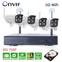 NEW 4CH DIY Waterproof Wireless NVR Kit 960P HD IR Night Vision Security IP Camera 5G