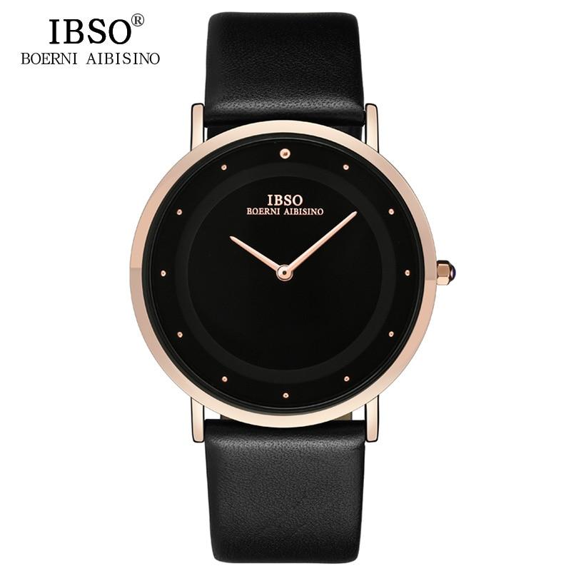 IBSO 2019 Negro Top Brand Luxury Mens Relojes 7 MM Reloj de pulsera - Relojes para hombres