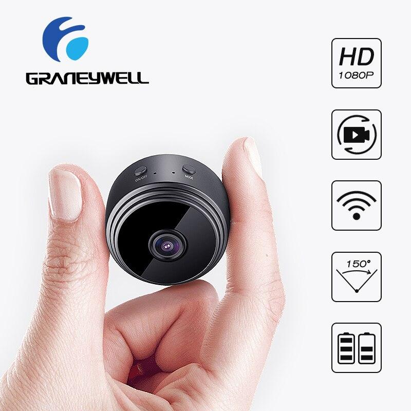 Graneywell Мини Wifi камера 1080 P ip-камера внутренняя безопасность жилища камера Встроенный аккумулятор ИК ночного видения видеонаблюдения видео Cam