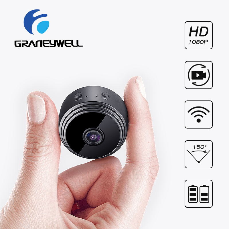 Graneywell Mini Wifi Camera 1080P IP Camera Indoor Home Security Camera Built-in Battery IR Night Vision Surveillance VideoCam