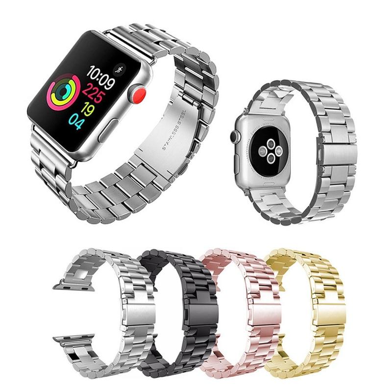 新着ソリッドステンレス鋼ストリップ金属アップル iWatch 時計バンド 1/2/3/4/5 apple の iphone 時計バンド 38 ミリメートル 42 ミリメートル