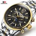 Marca de relógio automático dos homens mecânicos de luxo carnival orologi tourbillon homens relógio esportes relógio militar suíço relógio automatik