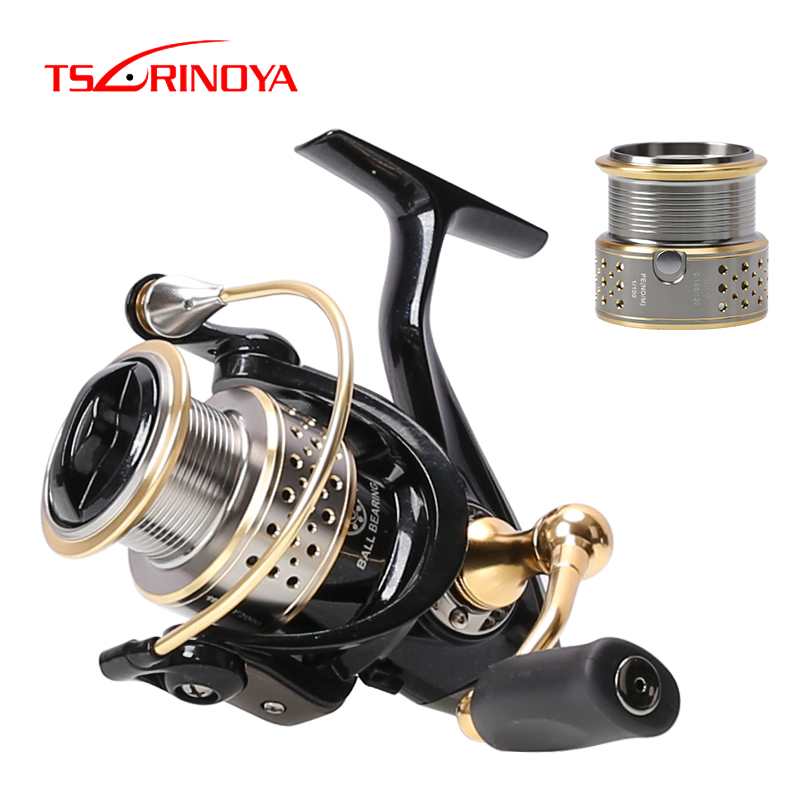 Tsurinoya Saltwater Fishing Reels 9BB/5.2:1 Aluminium Spinning Reel One Free Spare Metal Spool 2000 Series Fishing Tackle Feeder