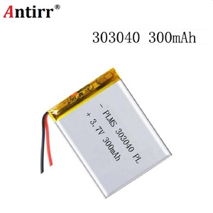 303040 3.7v lipo rc battery 300mah for rc li polymer small helicopter GPS MP3 MP4 tools