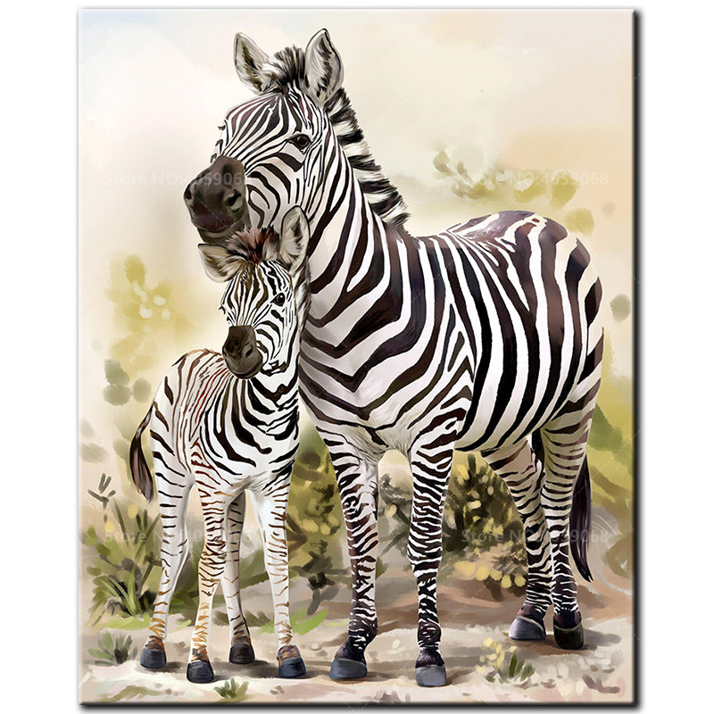 Arts,crafts & Sewing Needle Arts & Crafts Lion Zebra Elephant Giraffe Baby Animals 5d Diamond Embroidery Diy Diamond Painting Mosaic Full Round Drill Kids Decor Wall Art