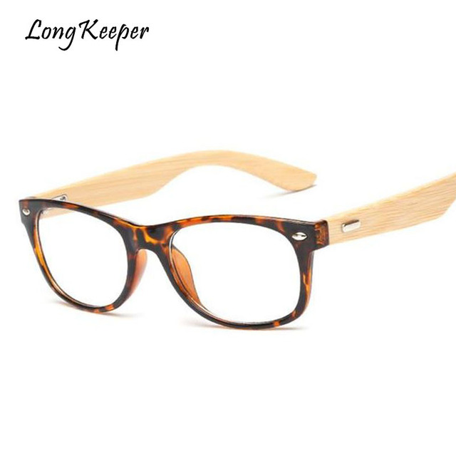 178ab0e93af Long Keeper 2018 Retro Bamboo Glasses Frame For Men Women Fashion Style  Leopard Eyeglasses Wood Spectacle Frames Wooden Glasses